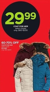 Coats For Her - Select Styles