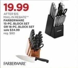 Farberware 18-Piece Block Set After Rebate