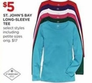 St. John's Bay Long-Sleeve Tee