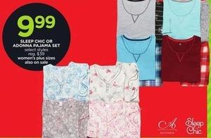 Sleep Chic Or Adonna Pajama Set