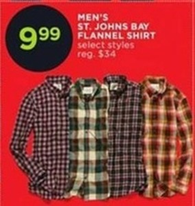Men's St. Johns Bay Flannel Shirt