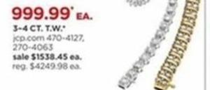 3-4ct TV T.W. Diamond Bracelet