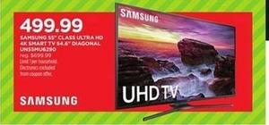 "Samsung 55"" 4K UHD Smart-TV UN55MU6290"
