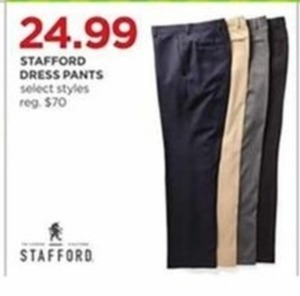 Stafford Men's Dress Pants