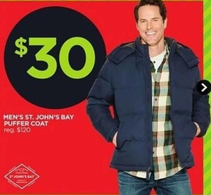Men's St. John's Bay Puffer Coat