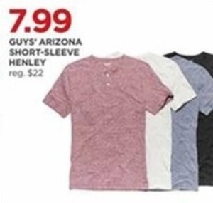 Guys' Arizona Short-Sleeve Henley Tees