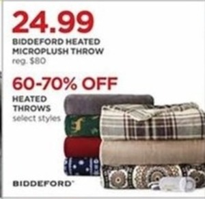 Select Styles Biddeford Heated Throws