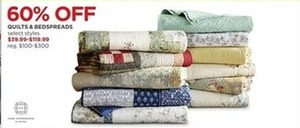 Select Styles Quilts and Bedspreads