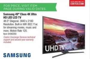 "Samsugn 49"" 4K Ultra HD LED LCD TV"