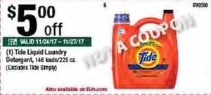 Tide Liquid Laundry Detergent 225 oz