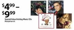 Special Value Holiday Music CD's