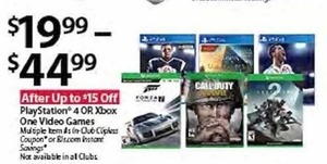 PlayStation 4 OR Xbox One Video Games