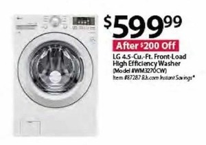 LG WM3270CW 4.5 cu. ft. Front Load HE Washer