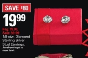 1/8 ct. tw. Diamond Sterling Silver Stud Earrings