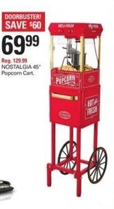 "Nostalgia 45"" Popcorn Cart"