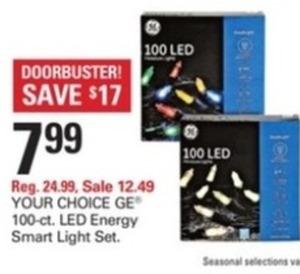 GE 100ct LED Energy Smart Light Set