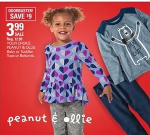 Peanut & Ollie Baby or Toddler Tops or Bottoms