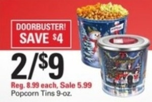 Popcorn Tins 9oz
