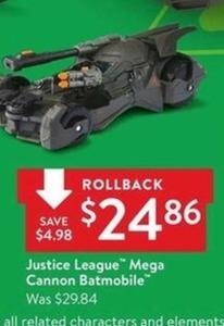 Justice League Mega Cannon Batmobile