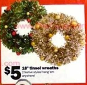 """18"""" Tinsel Wreaths"""
