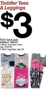 Cat & Jack Toddlers' Tees & Leggings