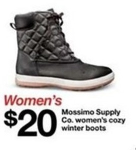 Women's Mossimo Supply Co. Women's Cozy Winter Boots