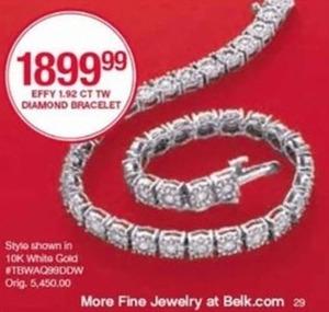 Effy 1.92 CT TW Diamond Bracelet