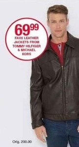 Faux Leather Jackets from Tommy Hilfiger & Michael Kors