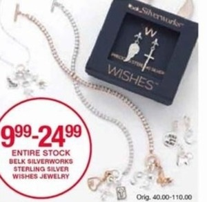Belk Silverworks Sterling Silver Wishes Jewelry