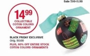 Collectible Coton Colors Ornament