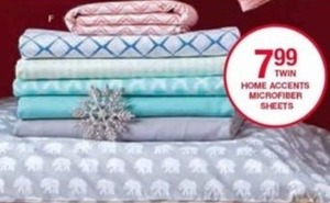 Twin Home Accents Microfiber Sheets