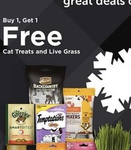 Cat Treats And Live Grass