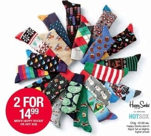 Men's Happy Socks or Hot Sox
