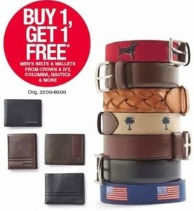 Men's Belts/Wallets by Columbia, Nautica & More