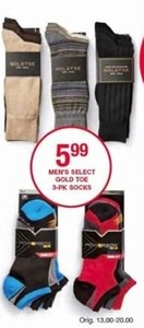 Men's Select Gold Toe Socks 3-Pack