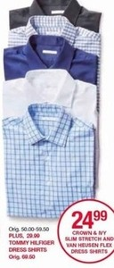 Crown and NY Slim Stretch and Van Huesen Flex Dress Shirts