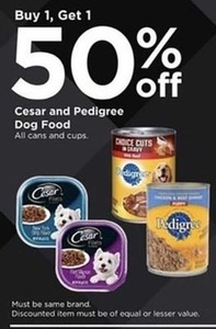 Cesar and Pedigree Dog Food