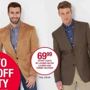 Sport Coats By Lauren, Ralph Lauren and Tommy Hilfiger
