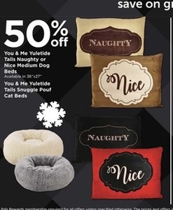 You & Me Yuletide Tails Cat and Dog Beds