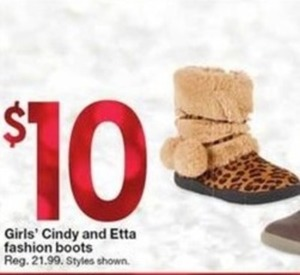 Girls' Cindy and Etta Fashion Boots