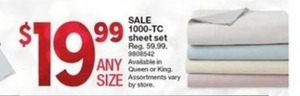 1000 Tc Sheet Sets - Queen or King