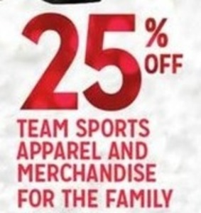 Team Sports Apparel & Merchandise For the Family