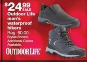 Outdoor Life Men's Waterproof Hikers