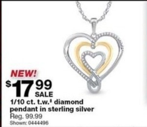 1/10 Ct. T.W. Diamond Pendant in Sterling Silver