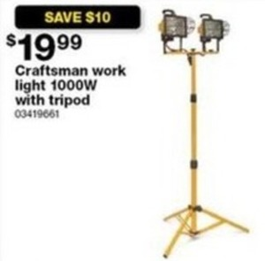 Craftsman Work Light 100ow With Tripod