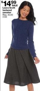 Laura Scott Textured Sweater
