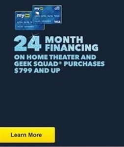 24 Month Financing on Home Theater & Geek Squad Orders of $799+