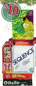 Sequence, Hedbanz, Othello & Other Games