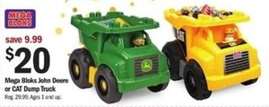 Mega Blocks John Deere or CAT Dump Truck