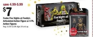 Funky Five Nights at Freddy's Action Figure or 4pk Action Figures